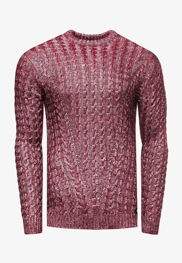 Sweater - weinrot