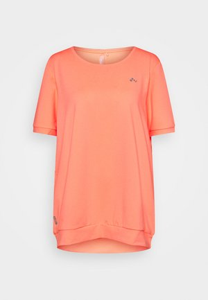 ONPCLARISE TRAINING TEE CURVY - Basic T-shirt - neon orange