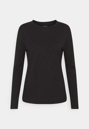 STRAIGHT CREW - Long sleeved top - black