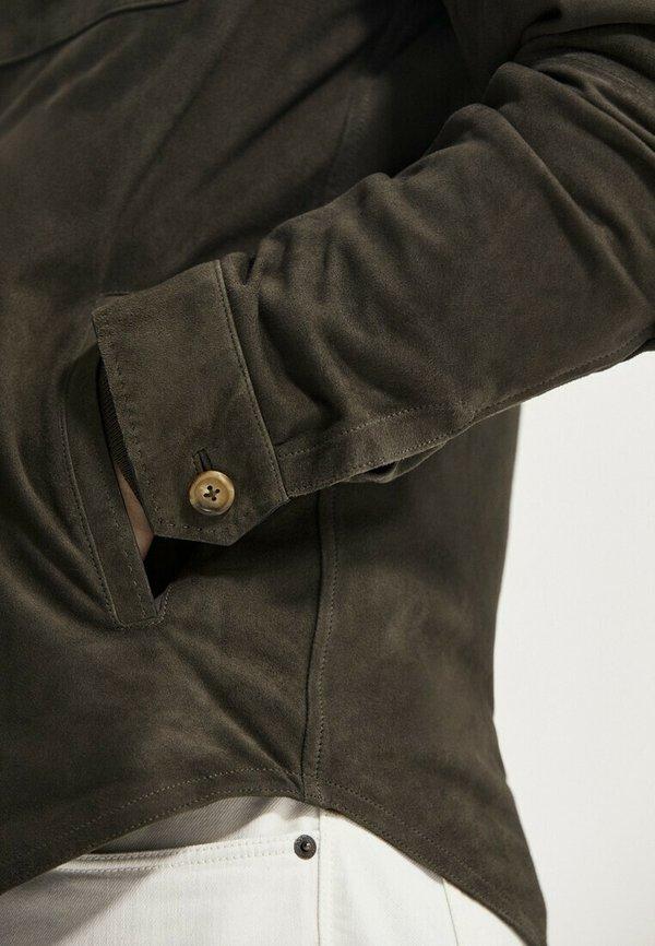 Massimo Dutti Kurtka skÓrzana - brown/brązowy Odzież Męska EFIO
