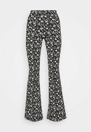 FLORAL FLARE - Kalhoty - black