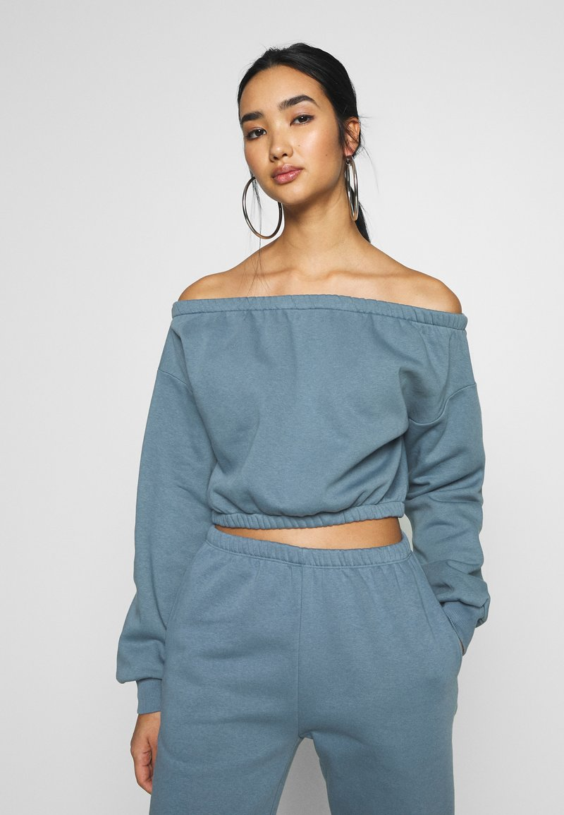 Nly by Nelly - OFF SHOULDER - Sweatshirt - blue