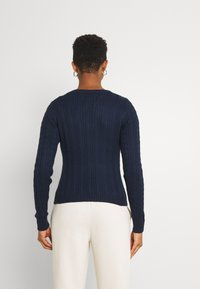 Hollister Co. - ICON CABLE V NECK - Jumper - navy - 2