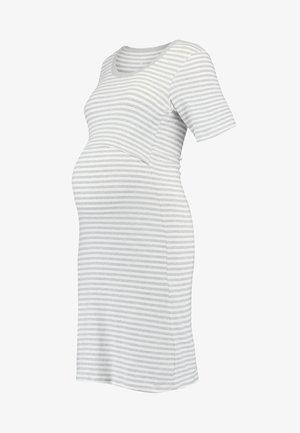 NIGHT DRESS - Nattskjorte - white/grey melange