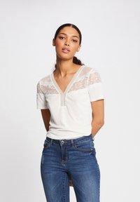 Morgan - DIETER - Basic T-shirt - off-white - 0