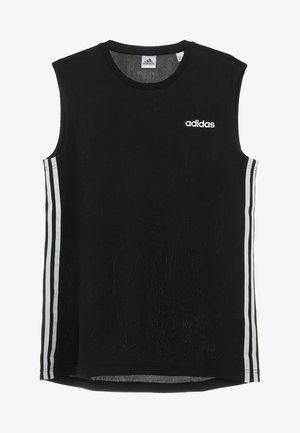 3STRIPES AEROREADY SLEEVELESS T-SHIRT - Funkční triko - black