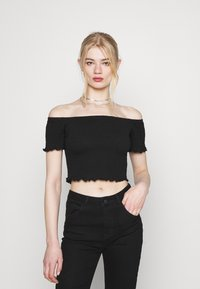 Glamorous - BARDOT 2 PACK - Basic T-shirt - black/red - 1