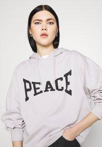 Topshop - PEACE HOODY - Sweatshirt - grey - 3