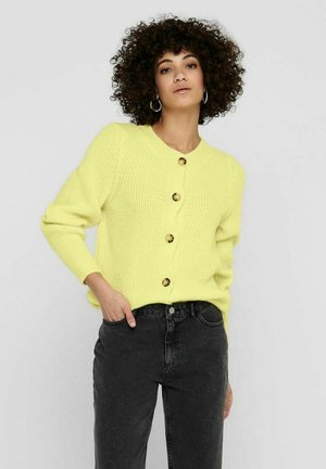 Cardigan - pastel yellow