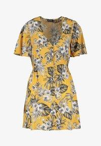 TALLY WEiJL - MIT KNÖPFEN - Day dress - yellow - 4