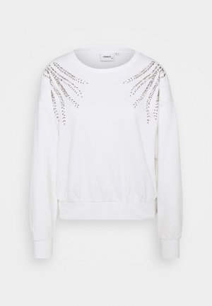 ONLLUXI LIFE LEAF ONECK - Sweatshirt - cloud dancer