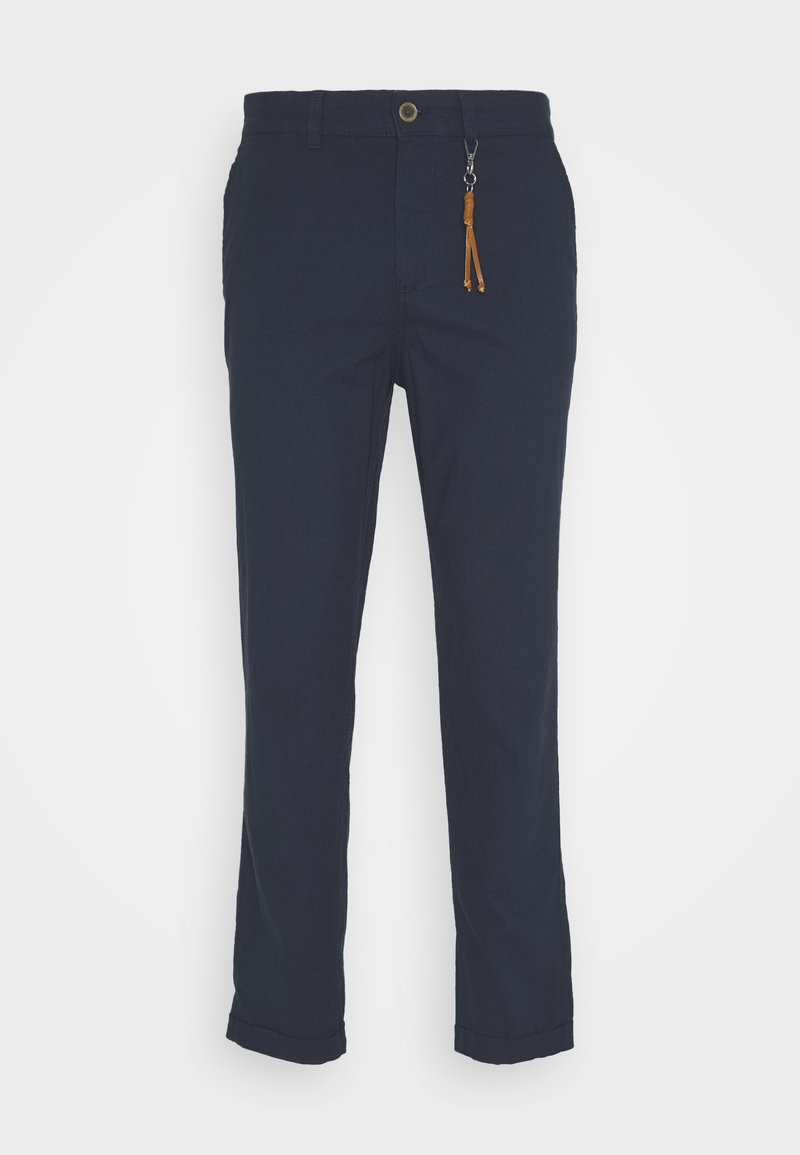 Jack & Jones - JJIACE JJLINEN  - Trousers - navy blazer