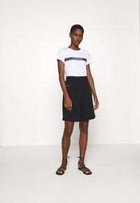 Calvin Klein Jeans - STRIPE SLIM TEE - Print T-shirt - bright white - 1