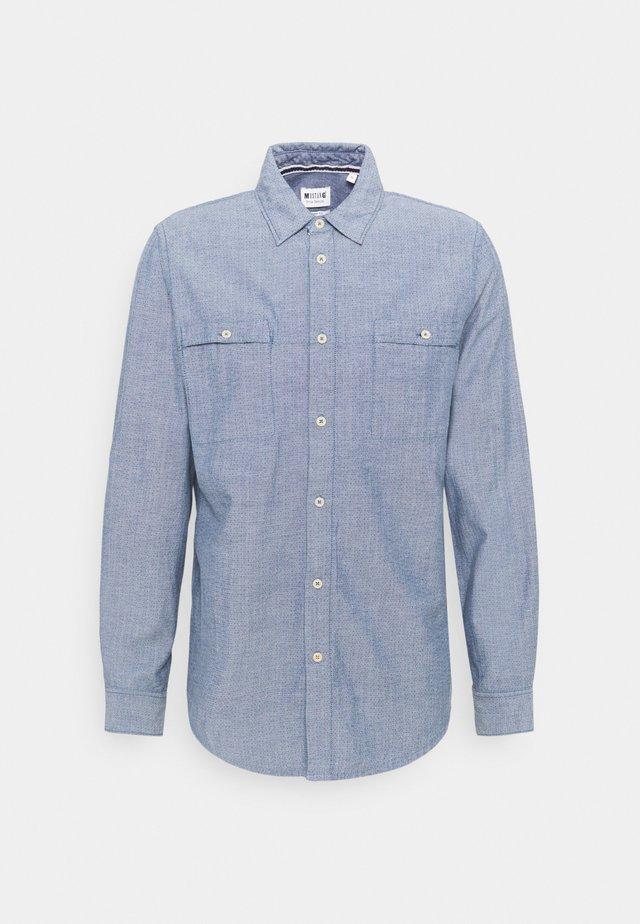 CASPER MUTLI DOBBY - Overhemd - blue