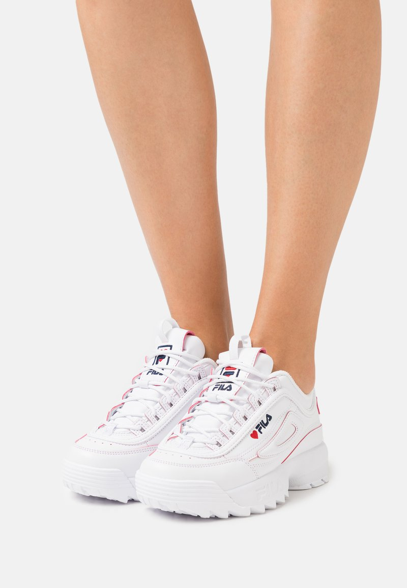 Fila - DISRUPTOR V-DAY  - Zapatillas - white/red
