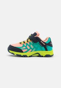 coral/turquoise/light navy/lime
