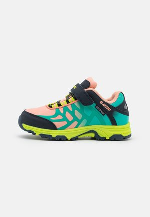 YOMP WP  - Hiking shoes - coral/turquoise/light navy/lime