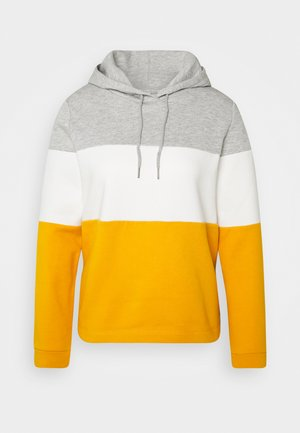 COLOR BLOCK HOODIE - Hoodie - yellow