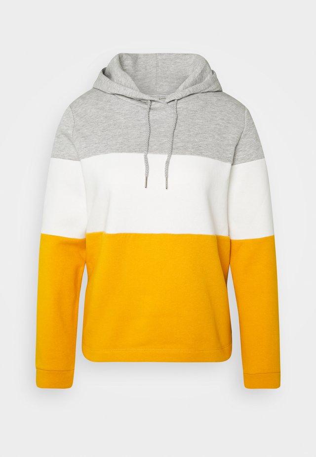COLOR BLOCK HOODIE - Jersey con capucha - yellow