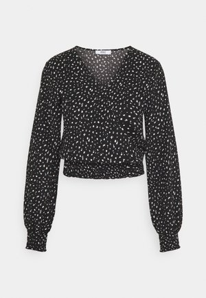 ONLZILLE  - Long sleeved top - black/white ditsy