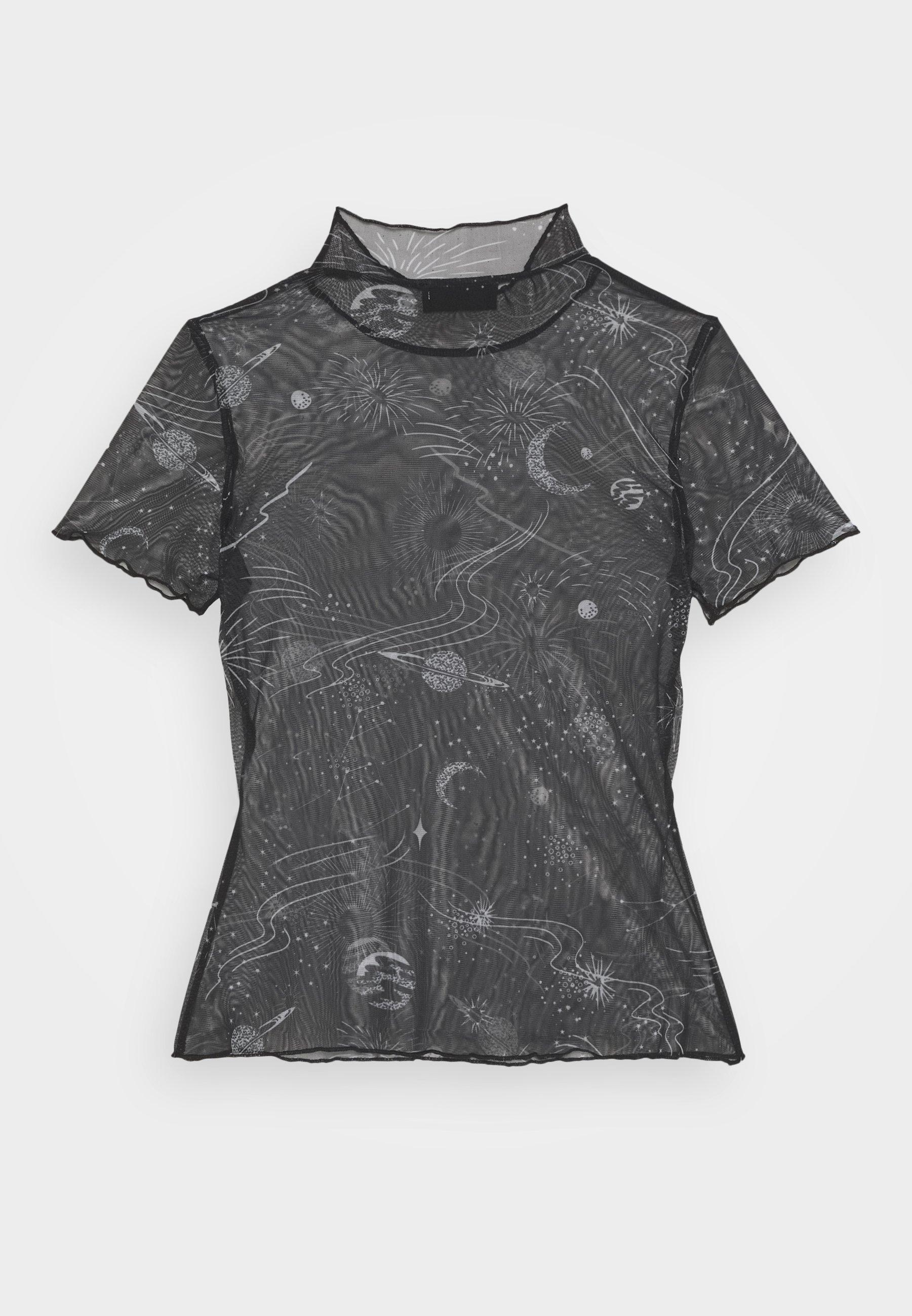 Even&odd Petite T-shirts Med Print - Black/white/hvit