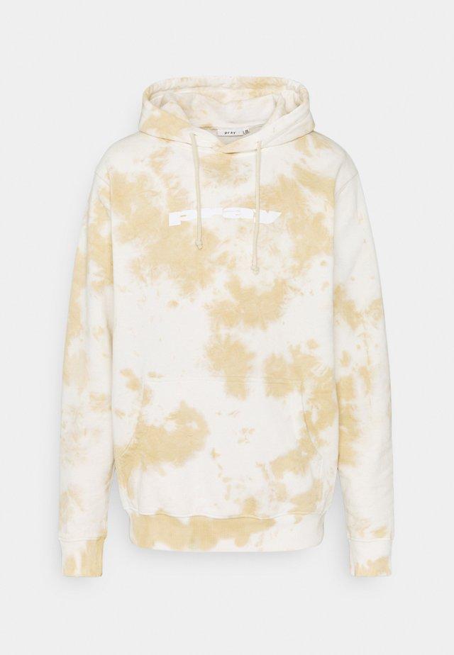 UNISEX CLASSIC HOODY - Felpa - camel tie dye