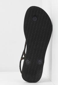 Havaianas - LUNA PREMIUM - Sandaler m/ tåsplit - black - 6