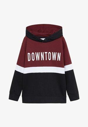 DOWNTOWN - Hoodie - vinröd