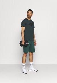 4F - T-shirt print - dark green - 1