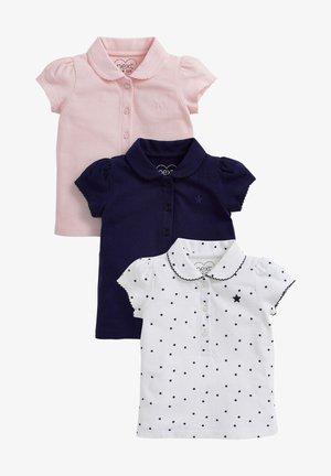 3 PACK - Poloshirt - blue
