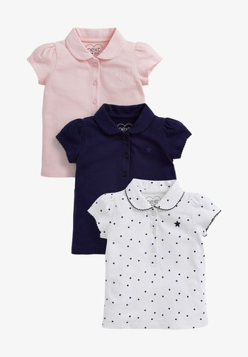 3 PACK - Polo shirt - blue