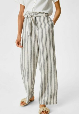 Pantalones - white / black