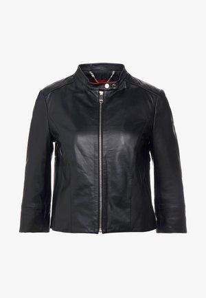DENOTARE - Leather jacket - black