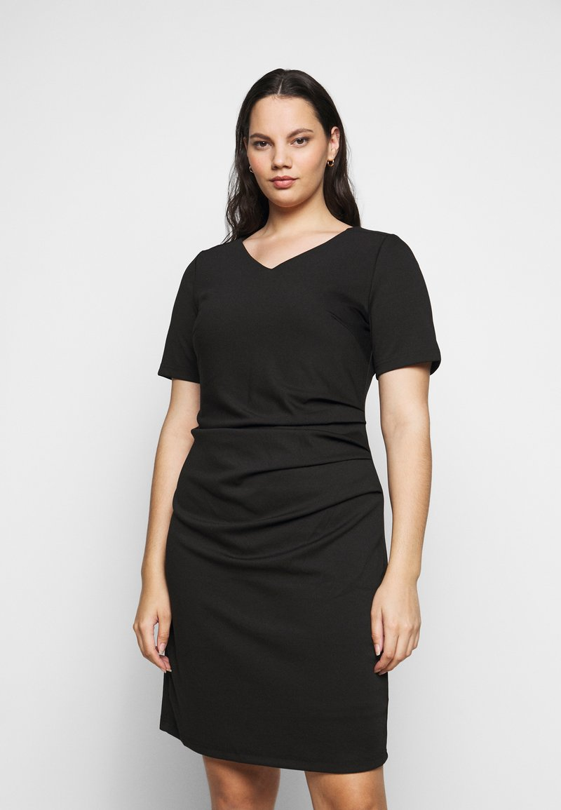 Kaffe Curve - KCINA DRESS - Day dress - black deep