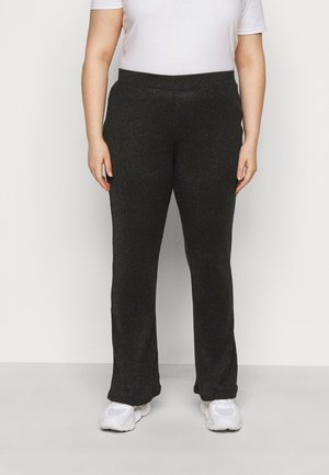 PCDIVI FLARED PANTS - Trousers - black