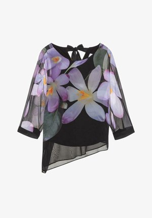 Blouse - black/purpel/multi
