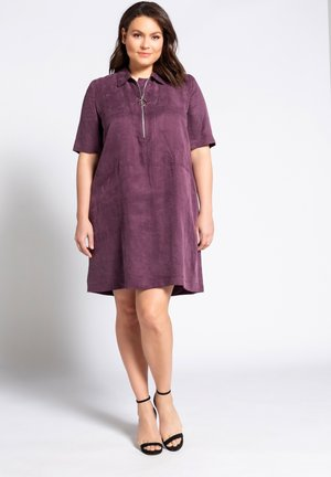 Shirt dress - dunkle pflaume