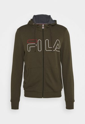 WILLI - Zip-up hoodie - forest night