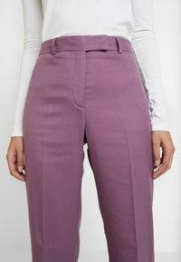 Calvin Klein - FINE CIGARETTE PANT - Trousers - purple - 4