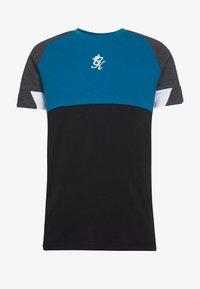 LOMBARDI PLUS - Print T-shirt - black/charcoal marl/ink blue