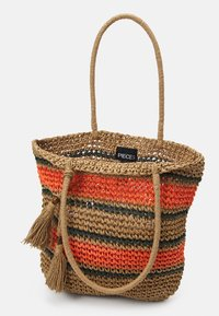 Pieces - PCLEONA SHOPPER - Tote bag - coral - 2