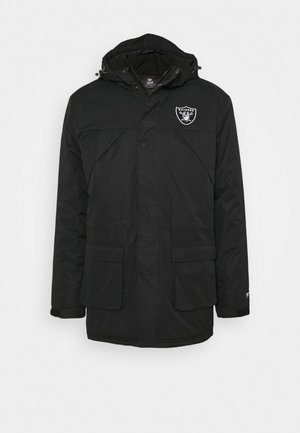 NFL OAKLAND RAIDERS ICONIC BACK TO BASICS HEAVYWEIGHT JACKET - Sportovní bunda - black