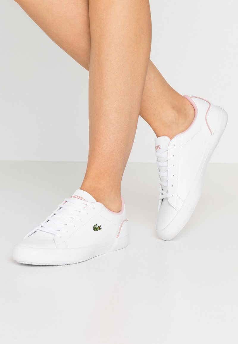Lacoste - LEROND  - Trainers - wihte/light pink
