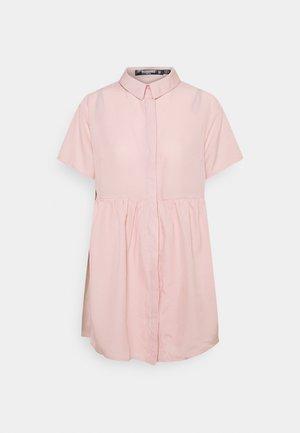 GINGHAM SMOCK DRESS - Shirt dress - pink