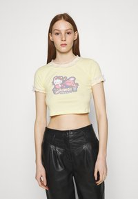 NEW girl ORDER - CROP TEE - Camiseta estampada - yellow - 0