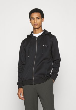 BALLIER ZIPPER HOODIE - Zip-up sweatshirt - black