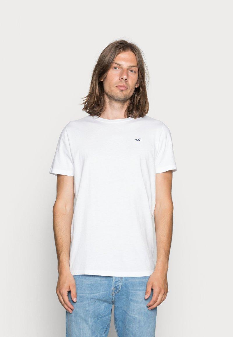 Hollister Co. - CREW CHAIN 3 PACK - Basic T-shirt - white