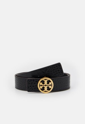 EMBOSSED LOGO BELT - Pásek - black