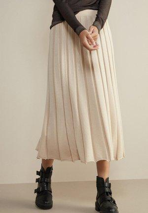 Pleated skirt - meringa