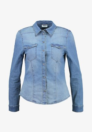 NMDILEM - Blouse - medium blue denim